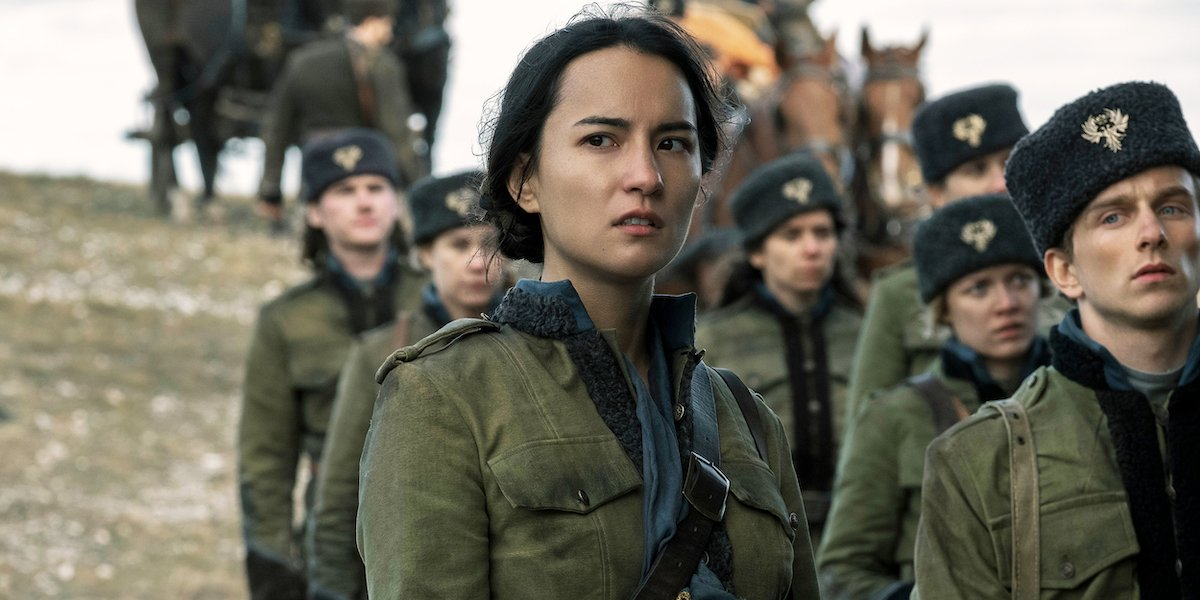 Jessie Mei Li as Alina Starkov in the Second Army in Shadow and Bone