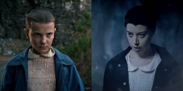 Stranger Things Eleven Millie Bobby Brown Aubrey Plaza