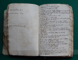 Pages of the notebook in which Samuel Ward translated an updated version of the King James Bible's Apocrypha section.