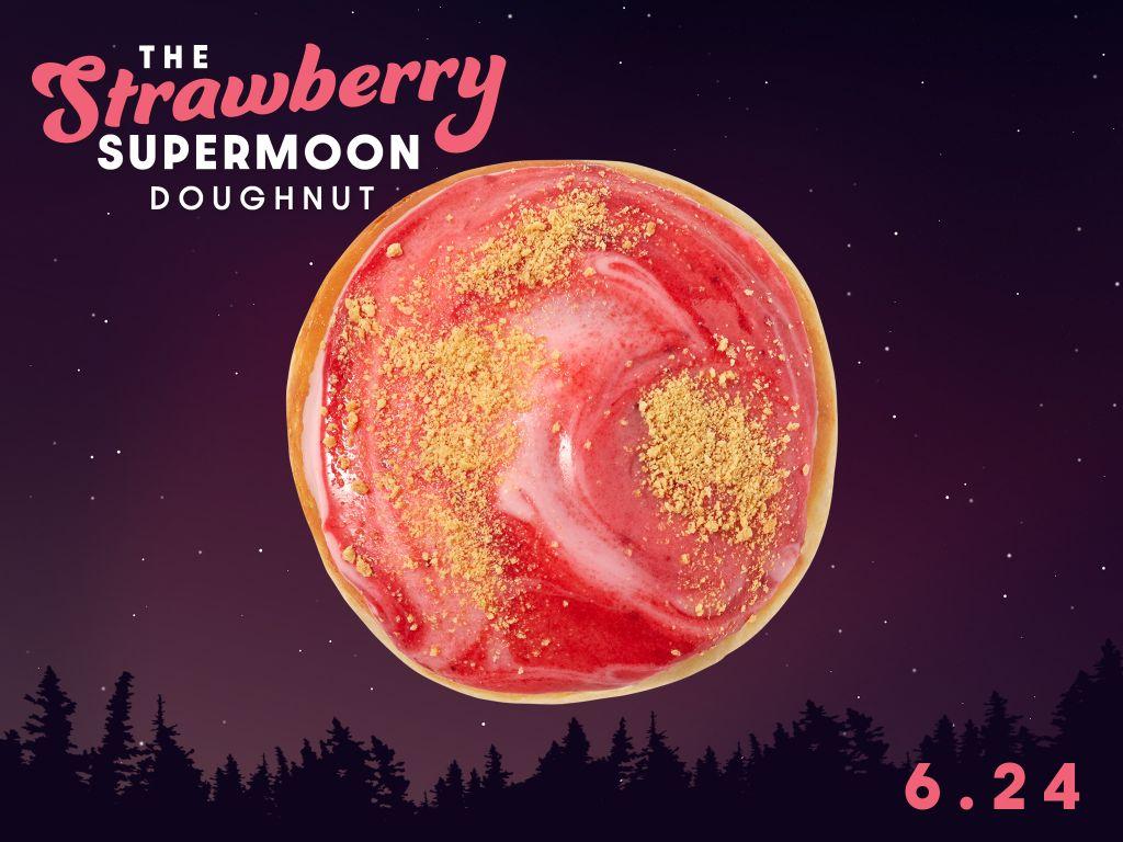 Strawberry Supermoon' on Thursday will get its own Krispy Kreme doughnut