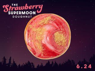 "Krispy Kreme will release a special ""strawberry supermoon"" doughnut on June 24, 2021."