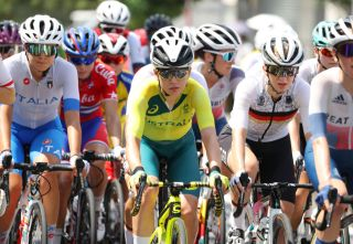 Sarah Gigante (Australia) at the Tokyo Olympic Games where she competed in the road race and time trial