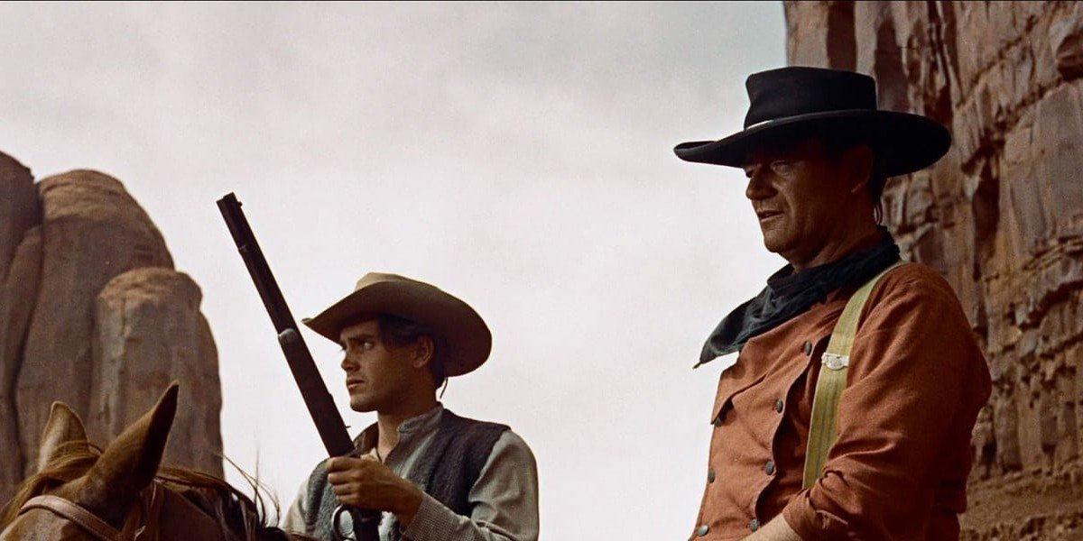 John Wayne on the right