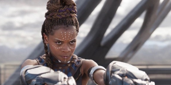 Shuri during Black Panther's final battle