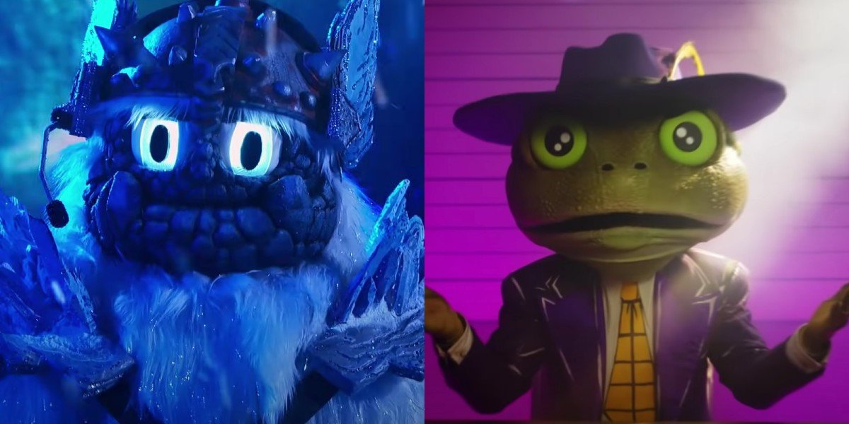 Yeti and Frog competing on Season 3 and 5 of The Masked Singer