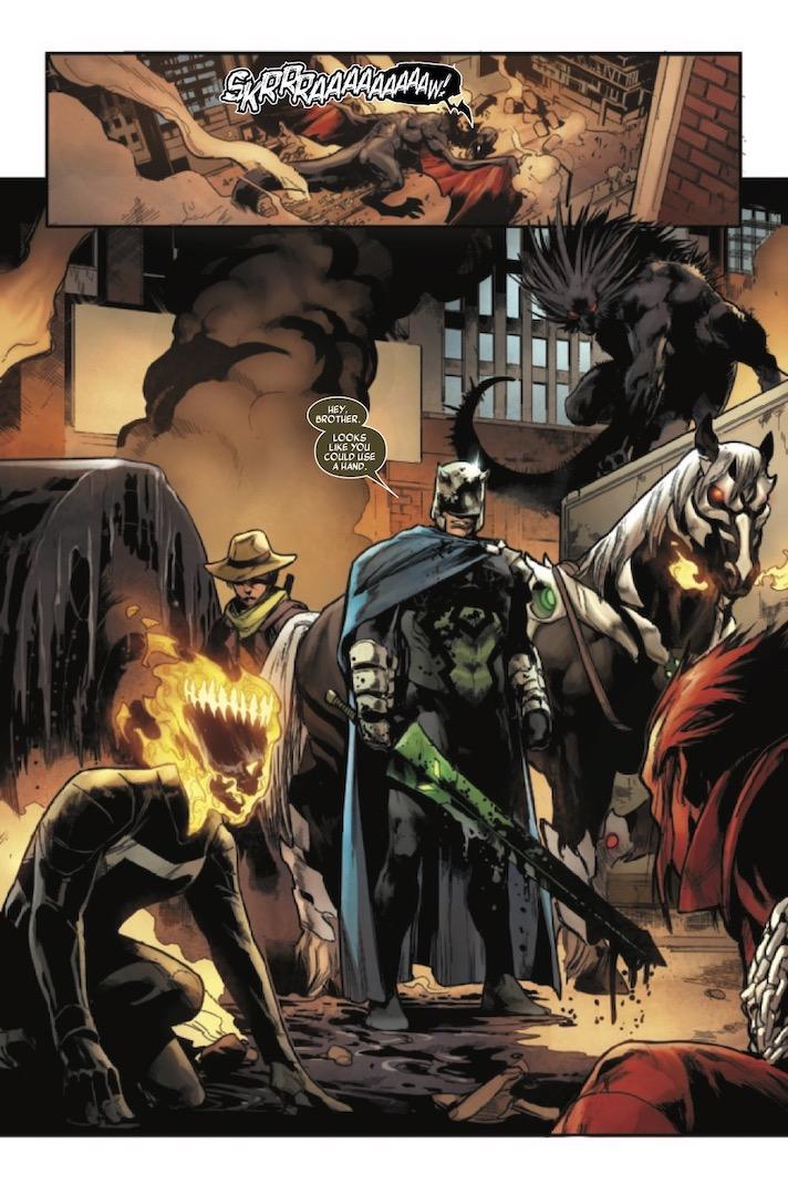 Página de Ghost Rider: King in Black # 1