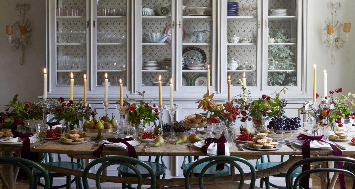 Take a festive tour of cookery writer Sky McAlpine's elegant London home