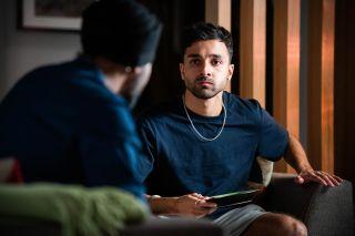 Vinny Panesar talks to his brother in EastEnders