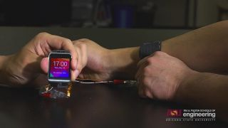 Stretchy Battery Powers Smartwatch