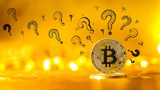 Bitcoin question marks