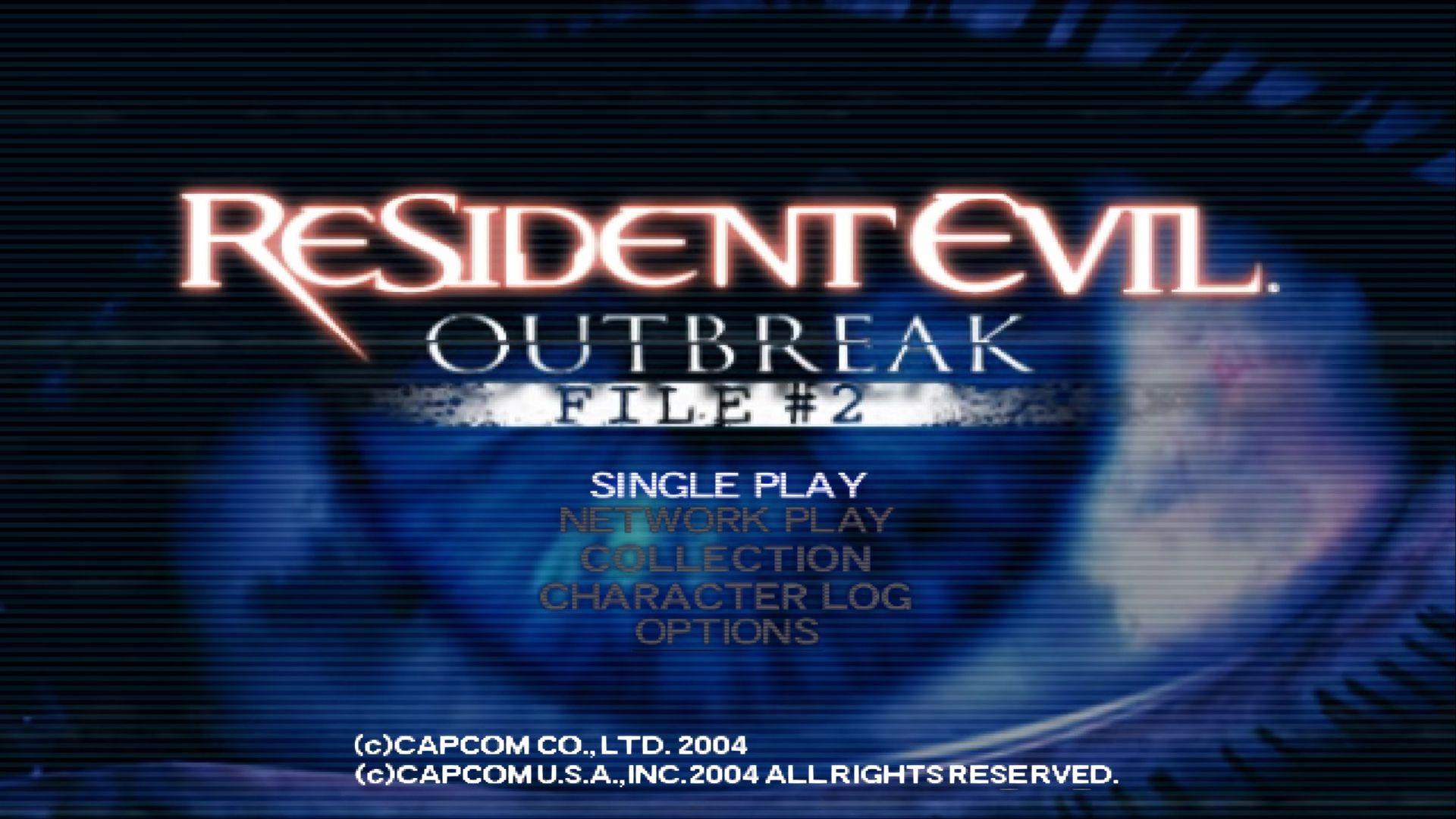 Resident Evil Outbreak File 2 title screen
