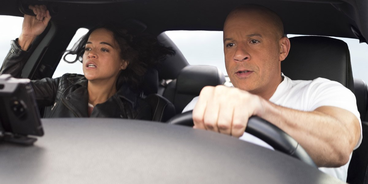 F9 Vin Diesel and Michelle Rodriguez