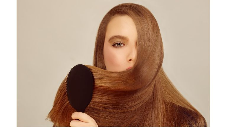 ghd glide: woman with long shiny hair