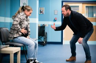 EastEnders Danny Dyer as Mick Carter with real life daughter Dani Dyer as Janette