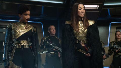 Terran Michael (Sonequa Martin-Green) and Georgiou (Michelle Yeoh) in 'Star Trek: Discovery'.