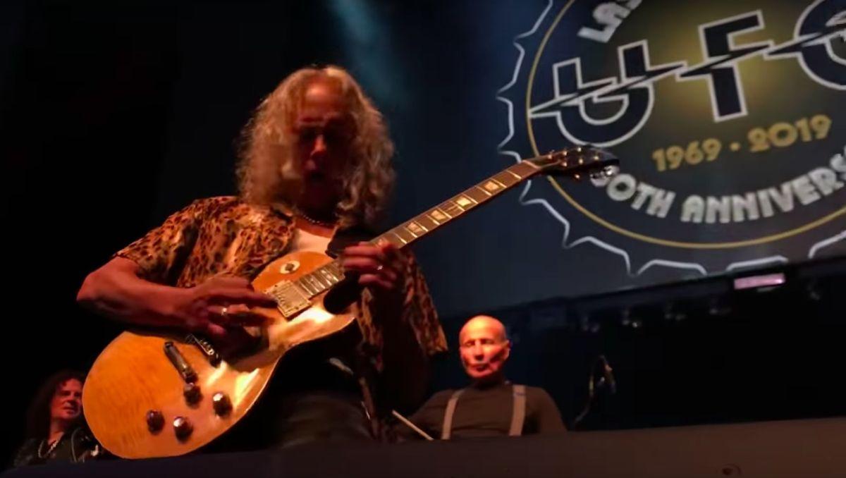 Watch Kirk Hammett join UFO for Doctor Doctor, Shoot Shoot