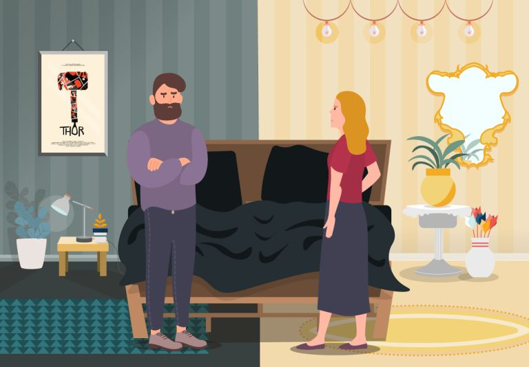 Couples would refuse to move in together if they hated their partner's taste in furnishing, according to a survey by Mattress Online