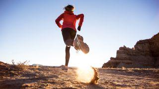 trail runner breathing while running