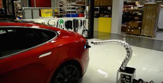 Tesla's snake robot charger.