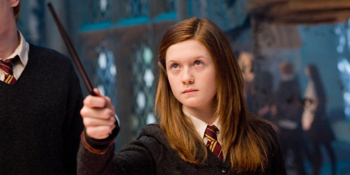 Ginny Weasley (Bonnie Wright) trains with Dumbledore's Army in Harry Potter and the Order of the Phoenix (2007)