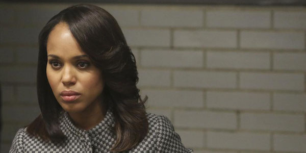 kerry washington seated in Scandal