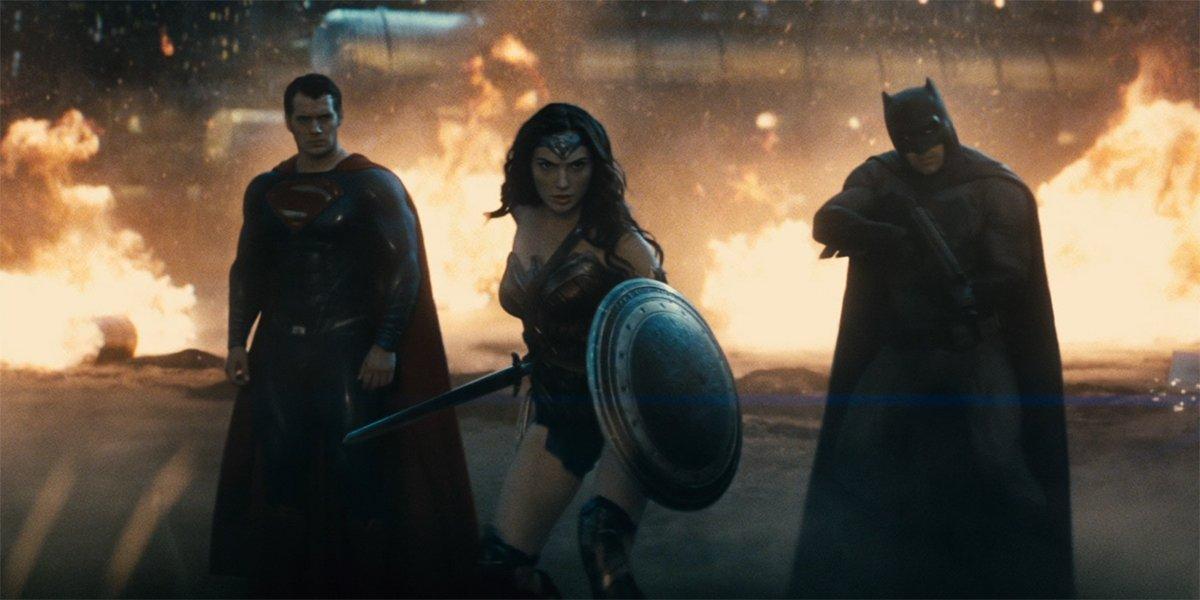 superman wonder woman and batman in Batman V Superman: Dawn Of Justice