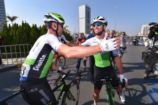 Bernhard Eisel and Mark Cavendish