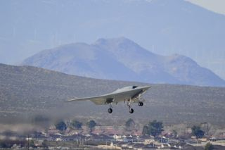 The X-47B takes off.