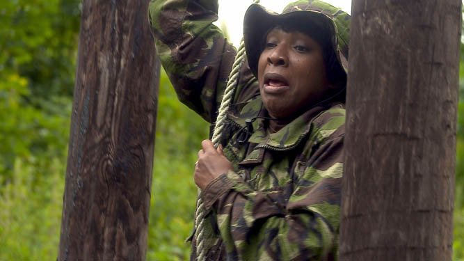 Howard arranges a military exercise!
