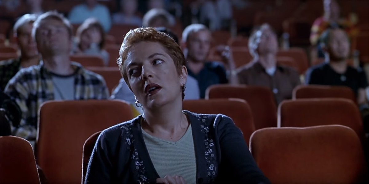 A frustrated theatergoer in Scary Movie