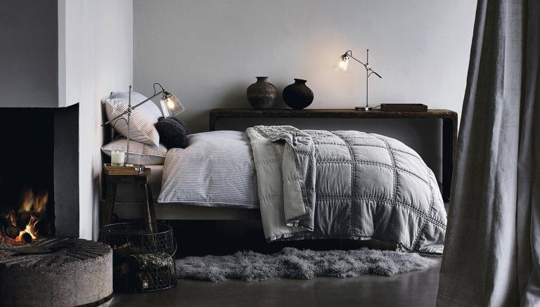 Grey bedroom ideas by The White Company