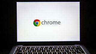Google Chrome logo on a laptop