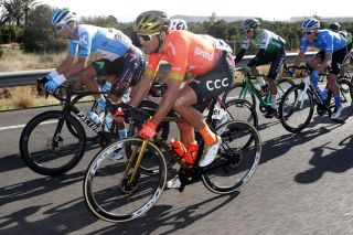 Reigning Olympic road race champion Greg Van Avermaet at the 2020 Volta a la Comunitat Valenciana