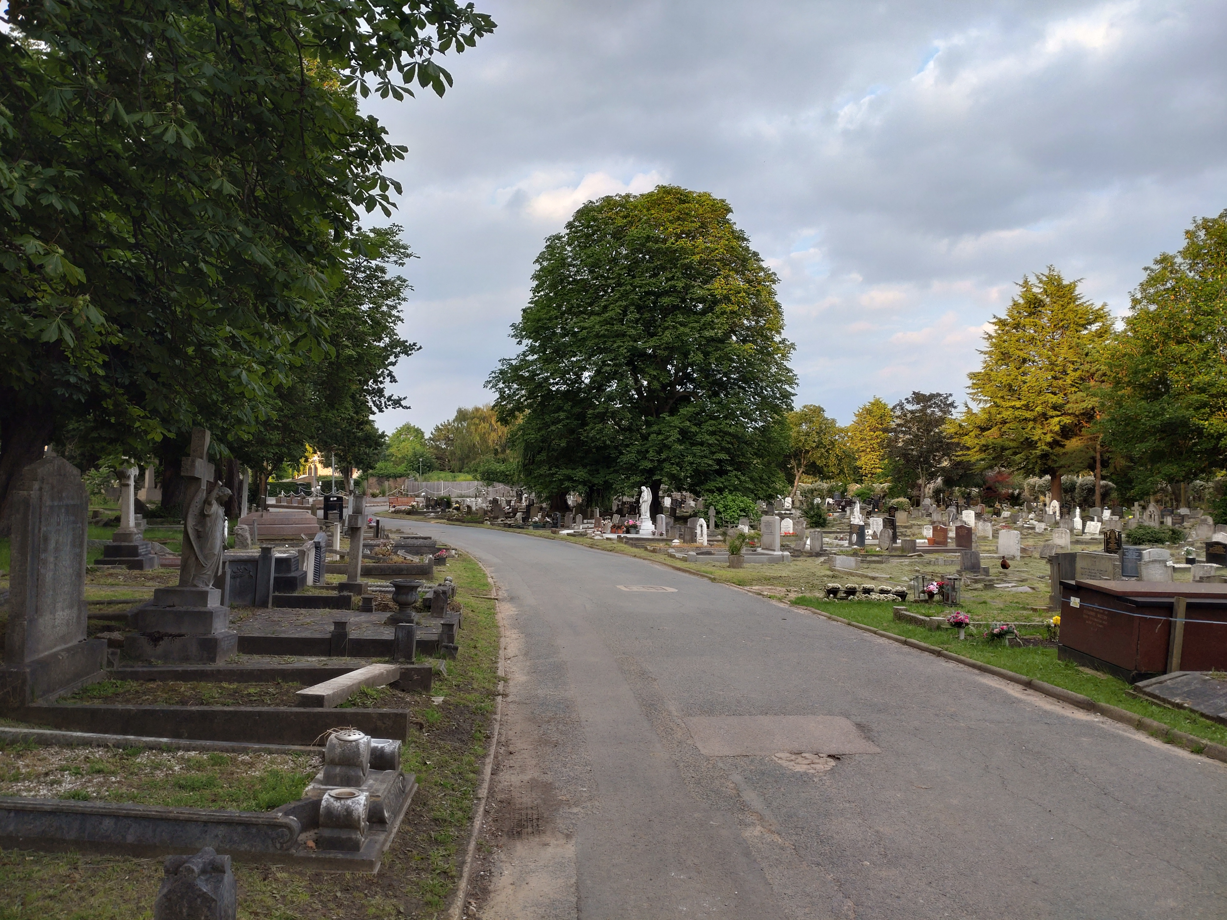 A graveyard shot on the Xperia 10 III