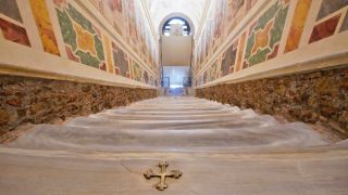 A view of the newly restored Holy Stairs (Scala Sancta), which, according to the Catholic Church, were used by Jesus on the way to his crucifixion.