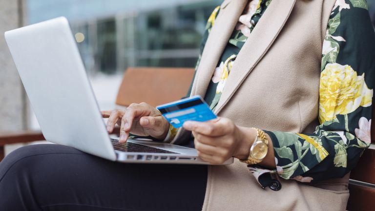 woman on computer shopping, Amazon Black Friday