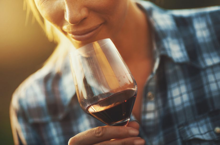 red wine helps destress study