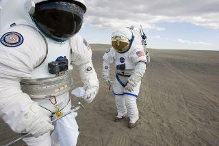 Astronaut practice