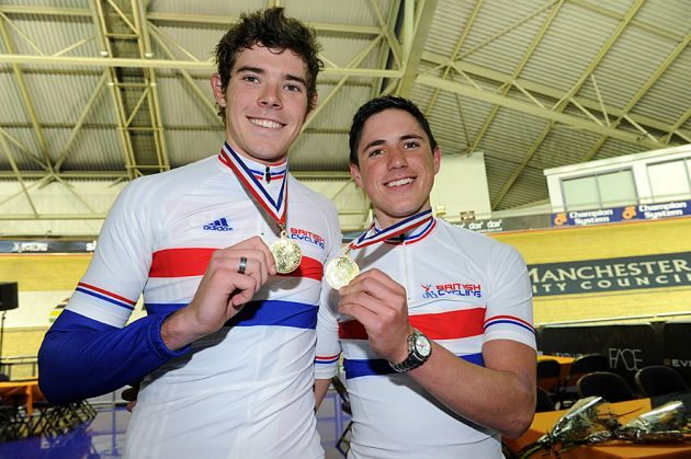 Luke Rowe and Peter Kennaugh, winners, British Madison National Championship 2011