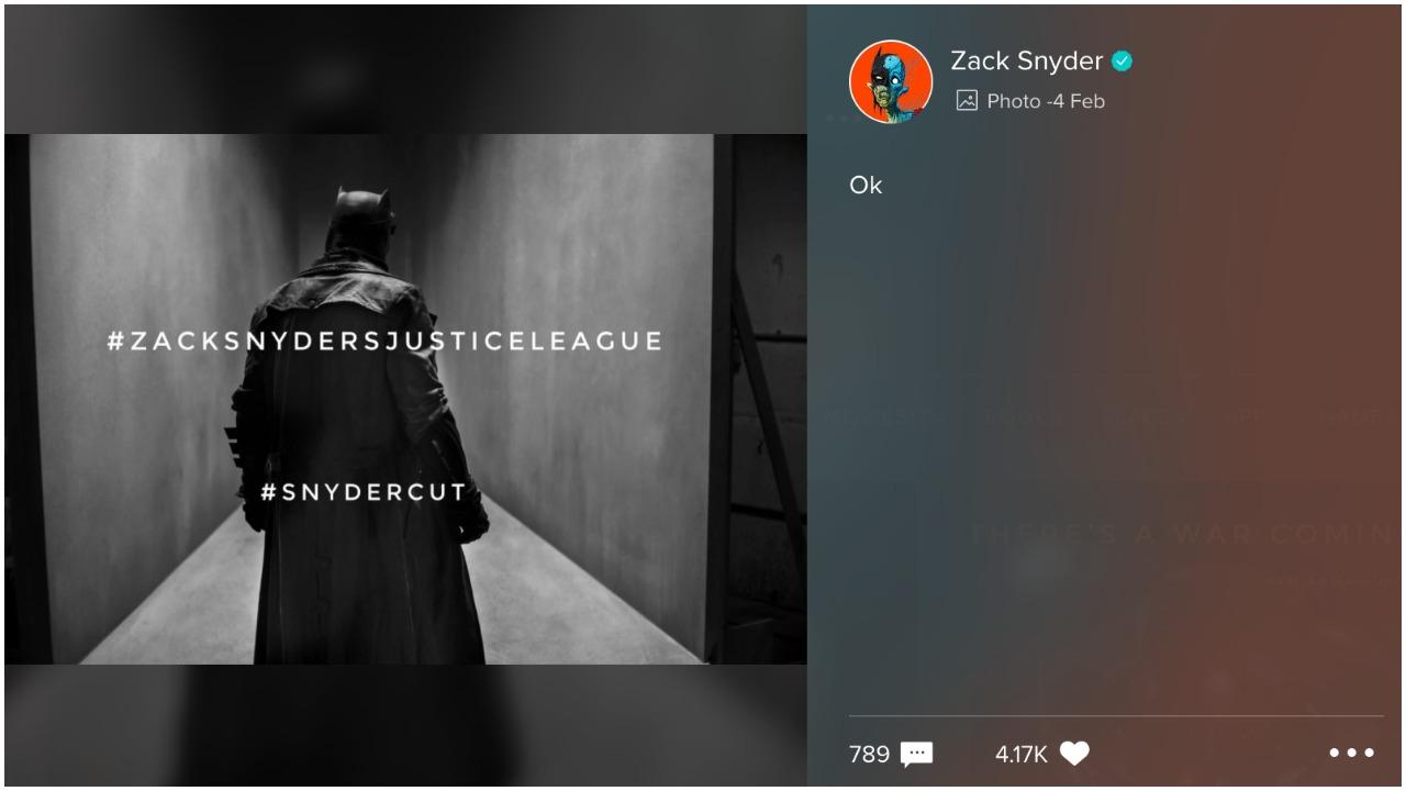 Ben Affleck como Batman en la Liga de la Justicia dirigida por Zack Snyder