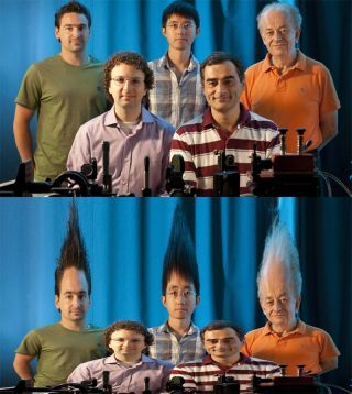 A new light-bending experiment turns physicists into coneheads.
