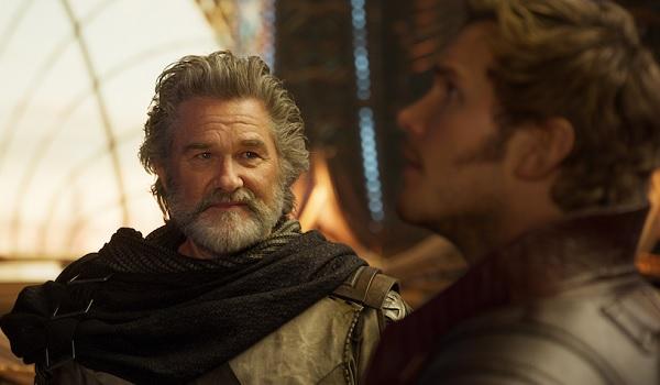 Guardians of the Galaxy Vol. 2 Kurt Russel Chris Pratt Sharing Moment