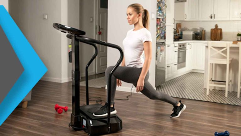 Amazon sale: Bluefin Fitness Vibration Plate in use by woman in living room