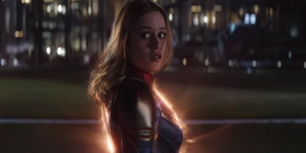 Captain Marvel after rescuing Tony