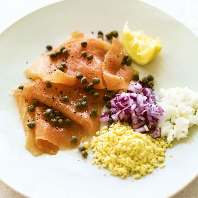 Smoked salmon with Capers, Onion and Egg recipe-recipe ideas-new recipes-woman and home