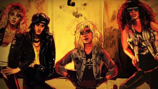 Animation of Duff McKagan and colleagues