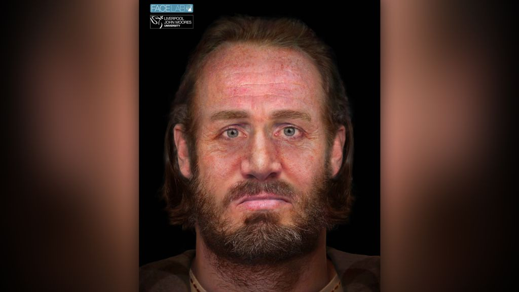 "The face of a man who was part of a ""six-headed"" burial in the Scottish Highlands in the 15th century has been reconstructed by experts as part of the Tarbat Medieval Burials project."