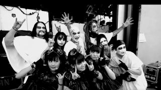 Korn's Brian 'Head' Welch with Babymetal and their band