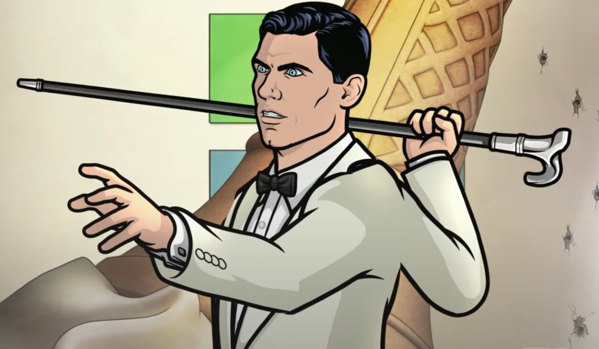 Archer wields his cane with anger