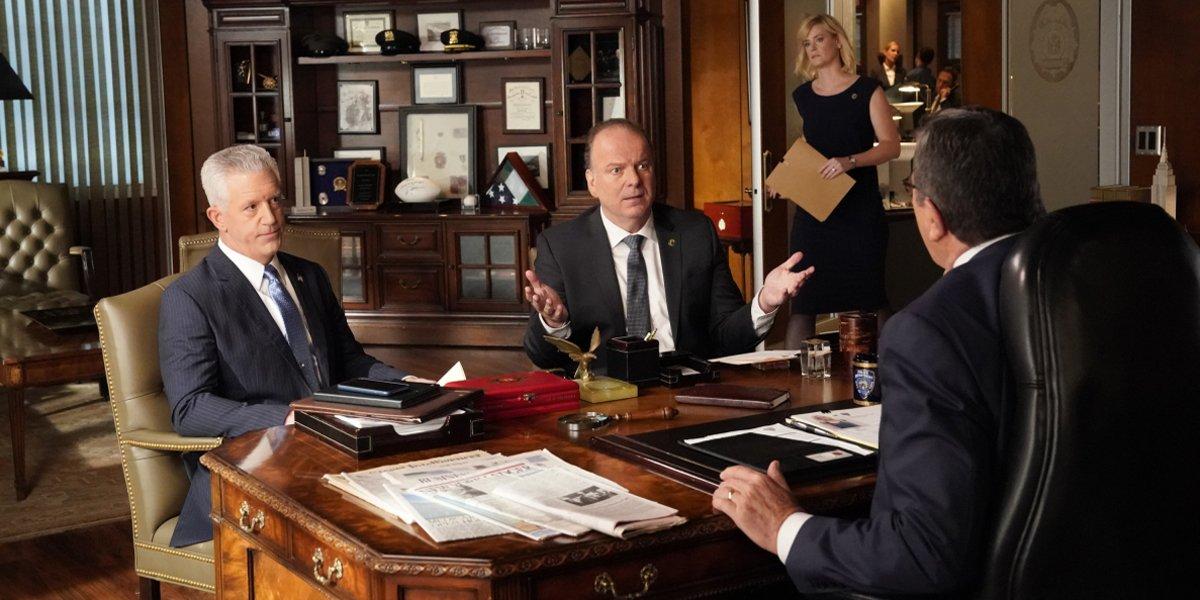 Blue Bloods Season 10 premiere office meeting CBS